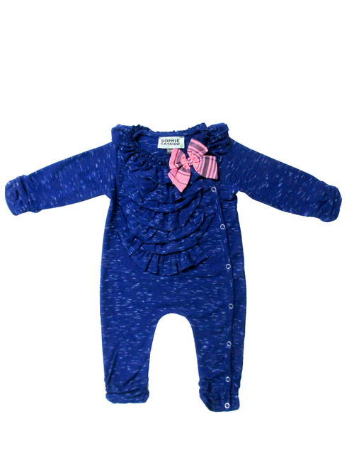 Sample Sale Royal Bow Knit Romper