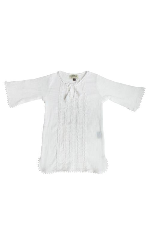 White Crinkle Tunic