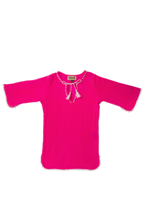 Fluorescent Pink Crinkle Tunic