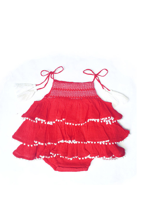 Sample Sale Carnation Ruffle Romper