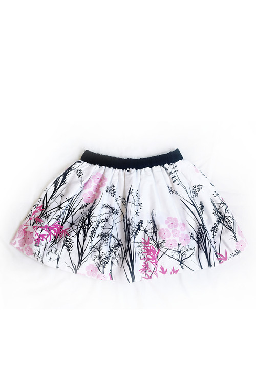 Sample Sale White & Pink Amenia Skirt