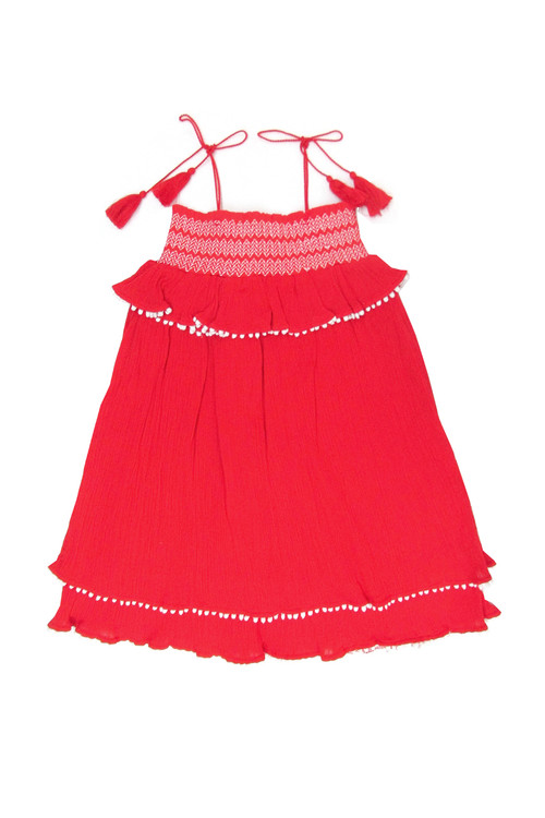 Sample Sale Carnation Smocked Babydoll Dress