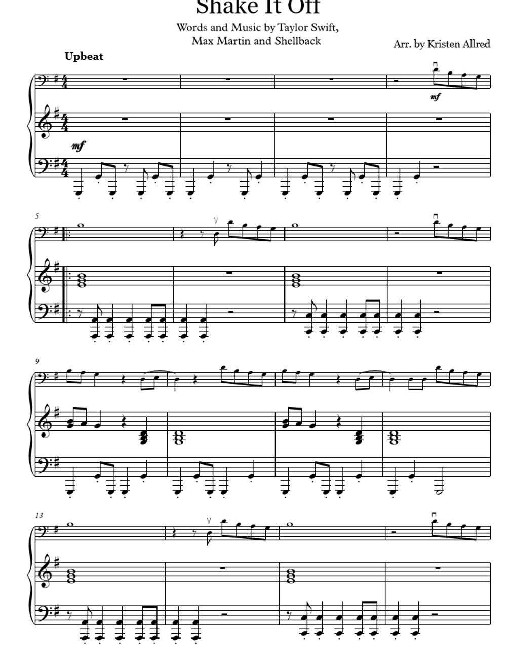 Shake It Off (Piano and Cello) Cover