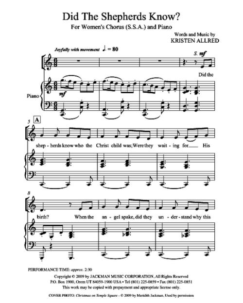 I'll Embark In The Service Of God (SA) And Piano