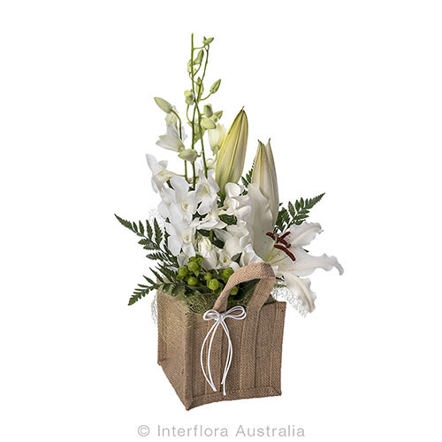 A Beautiful Winter, Spring selection supplied by Ipswich Florist. Select Gifts to go with your selection Ipswich Florist situated 9 Brisbane St Ipswich.