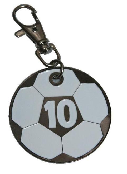 Zipper Pull/Key Chain Number Tag