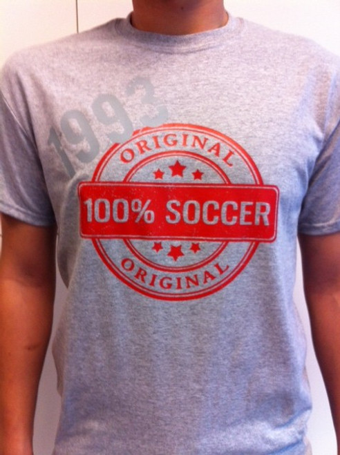 The Original Stamp T - Light Grey