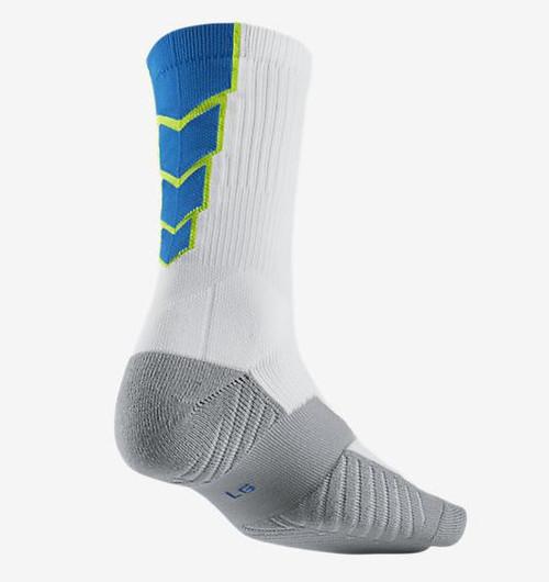 Nike Stadium Soccer Crew Sock - White/Volt