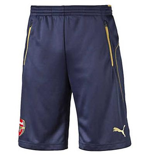 PUMA Arsenal FC Training Shorts w/ Pockets - Black Iris/Victory Gold