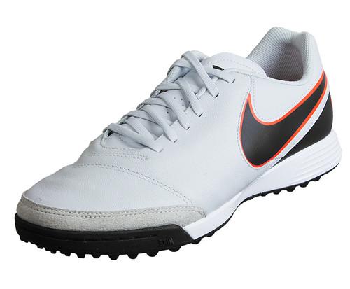 Nike Tiempo Genio II Leather TF - Pure Platinum/Black/Metallic Silver/Hyper Orange