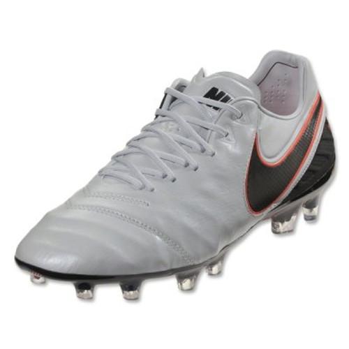 Nike Tiempo Legend VI FG - Pure Platinum/Black/Metallic Silver/Hyper Orange RC (42317)
