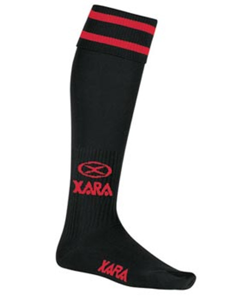 Milan SC Academy HM Socks - Xara Logo - Black/Red