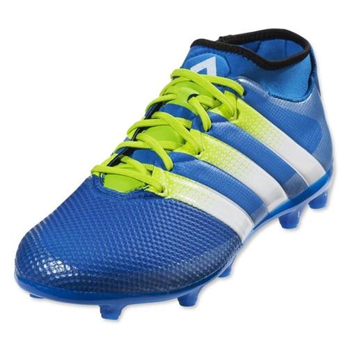 Adidas Ace 16.3 Primemesh FG/AG - Shock Blue/Semi Solar Slime/True White
