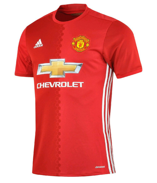adidas Manchester United Home 16/17 Jersey - Red/Yellow