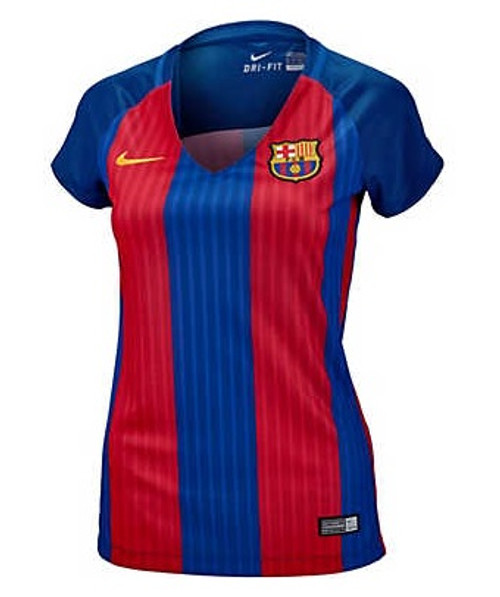 Nike Womens FC Barcelona Home Jersey 16/17 - Red/Blue (31218)