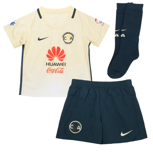 Nike Youth Club America Home Kit 16/17 - Yellow/Navy