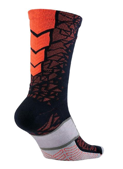 Nike Match Fit Elite Hypervenom Crew Soccer Socks - Obsidian/Total Crimson