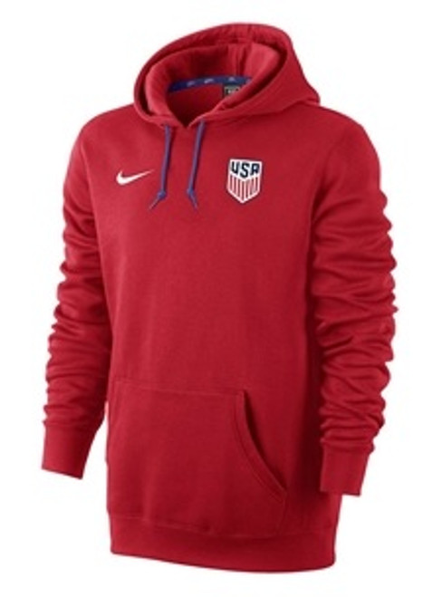 Nike U.S. Core Men's Hoodie - University Red/Game Royal/White