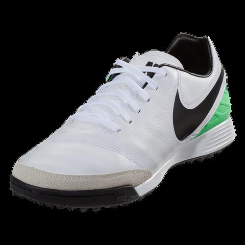 Nike TiempoX Genio II Leather TF - White/Black/Electro Green(41917)