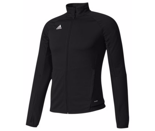 adidas Womens Tiro 17 Training Jacket - Black/Black
