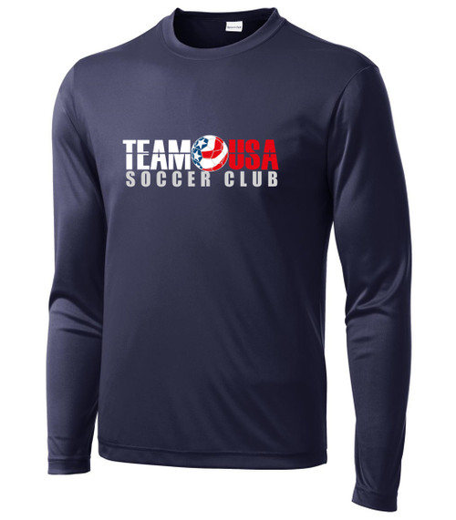 Team USA Men's LS Practice Tee - Navy
