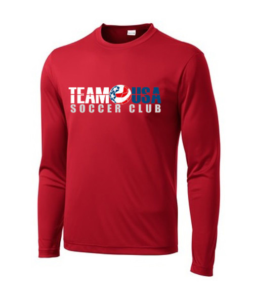 Team USA LS Coach's Tee - Red