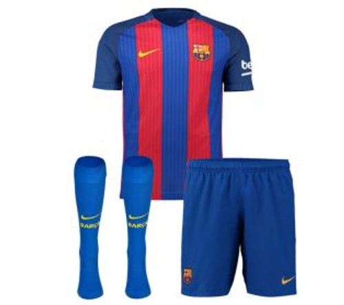 Nike Youth Home Barca Kit 2016/17 - Red/Blue