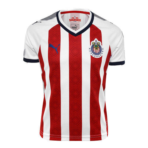 Puma Chivas Youth 2017/18 Home Jersey - Red/Navy/White (92817)