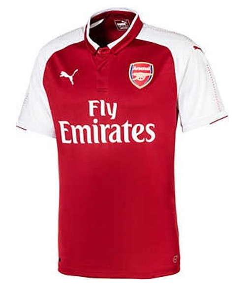 Puma Arsenal 2017-2018 Home Jersey - Chili Pepper/White (10617)