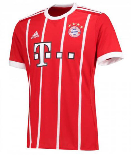 Adidas Bayern Munich 2017-2018 Home Jersey - True Red/White (10817)