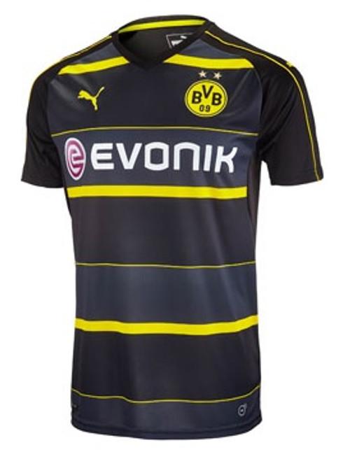 Puma Borussia Dortmund 2016-2017 Away Jersey - Black/Cyber Yellow (10817)