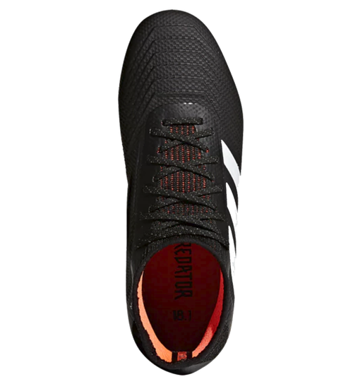Adidas predator nero / bianco / solare fg jr rosso (111617 ohp calcio)