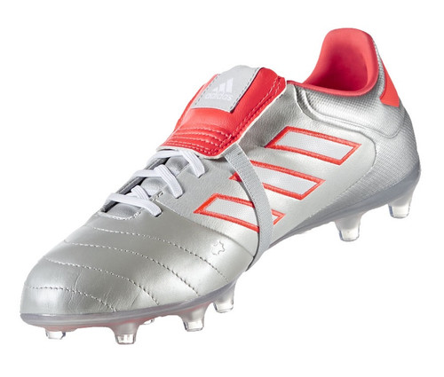 adidas Copa Gloro 17.2 FG - Silver Metallic/White/Solar Red (12217)