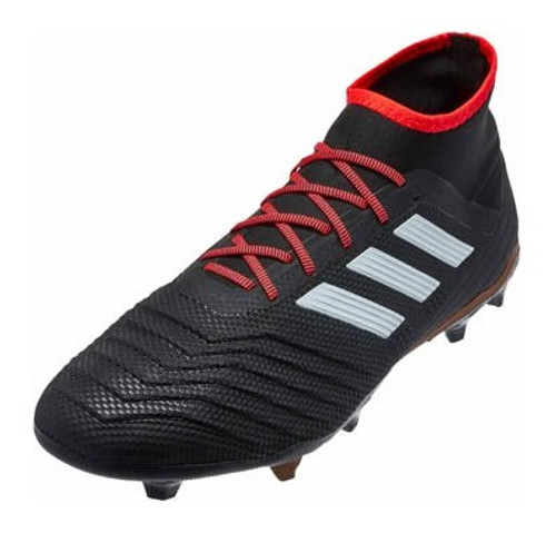 Adidas Predator 18.2 FG -Core Black/White/Solar Red (121417)
