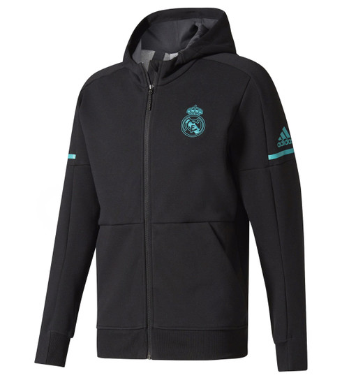 Adidas Real Madrid Anthem Squad Jacket 17/18 - Black (2918)