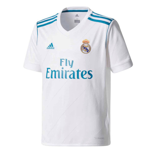 Adidas Youth Real Madrid 2017-2018 Home Jersey - White SD (5518)