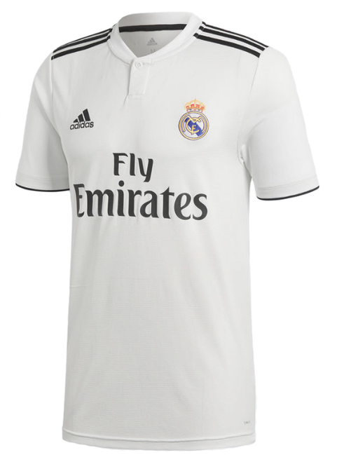 Adidas Real Madrid Home Jersey 18/19 - White/Black (51618)