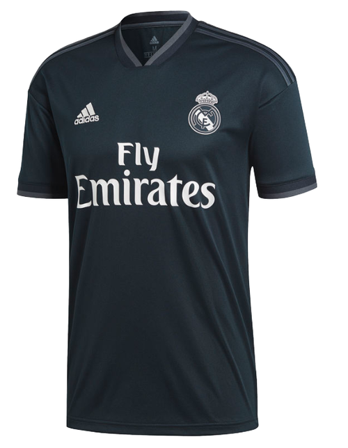 Adidas Real Madrid Away Jersey 18/19  - Tech Onix/Bold Onix/White (51618)