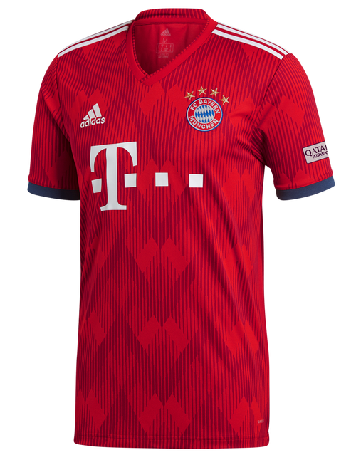 Adidas FC Bayern Munich Home Jersey 18/19 - Red/White (51818)
