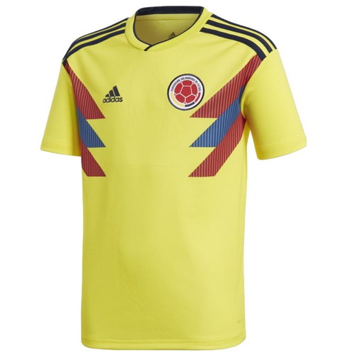 Adidas 2018 WC Colombia Home Jersey - Yellow/Navy (52318)