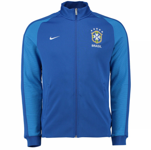 Nike Brazil 2016/17 Authentic N98 Track Jacket - Blue/White (52818)