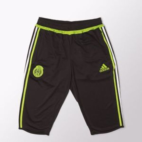Adidas Mexico 16/17 3/4 Pants - Black/Green SD (52818)