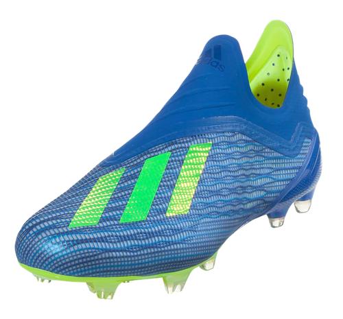 Adidas X 18+ FG - Football Blue/Solar Yellow/Core Black (61818)