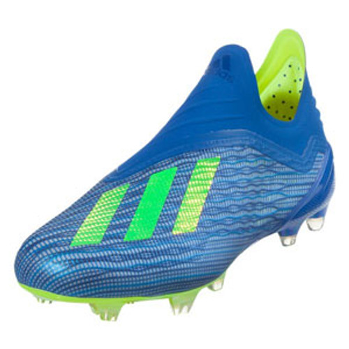 Adidas X 18+ FG J - Football Blue/Solar Yellow/Core Black (61818)