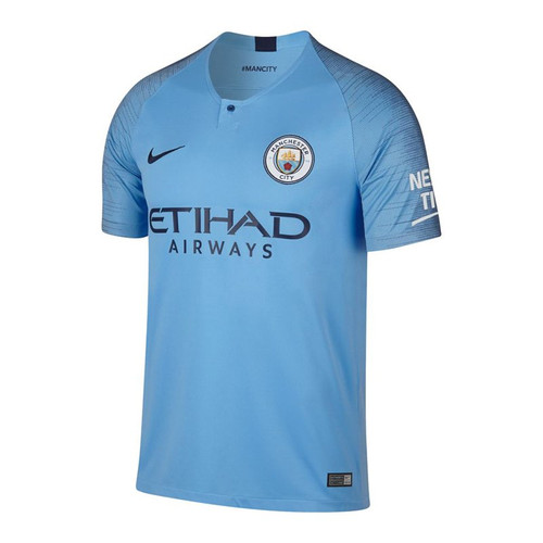 Nike Manchester City 18/19 Home Jersey - Field Blue/Midnight Navy (72018)