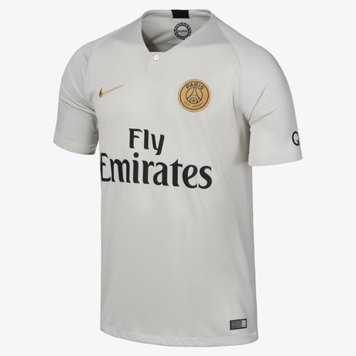 Nike PSG 18 19 Away Jersey - Lightly Bone Truly Gold (72518) 58baba849
