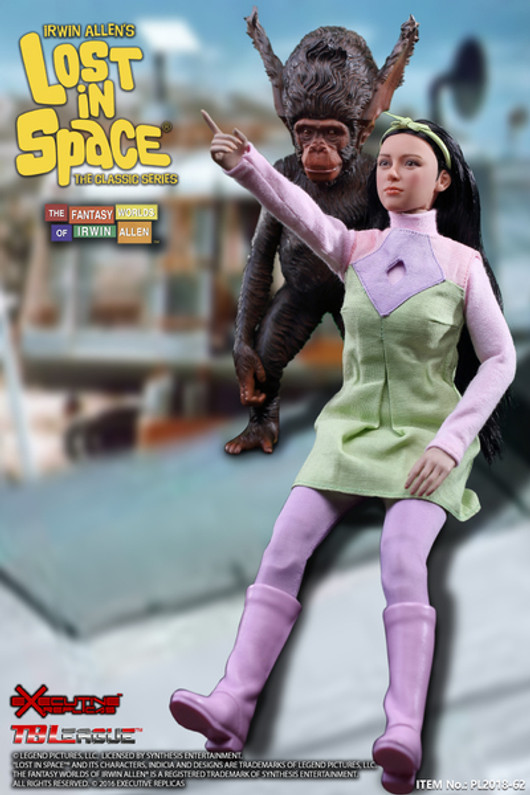 EXECUTIVE REPLICAS LOST IN SPACE - PENNY ROBINSON WITH 3RD SEASON OUTFIT & BLOOP 1/6 SCALE ACTION FIGURE SET