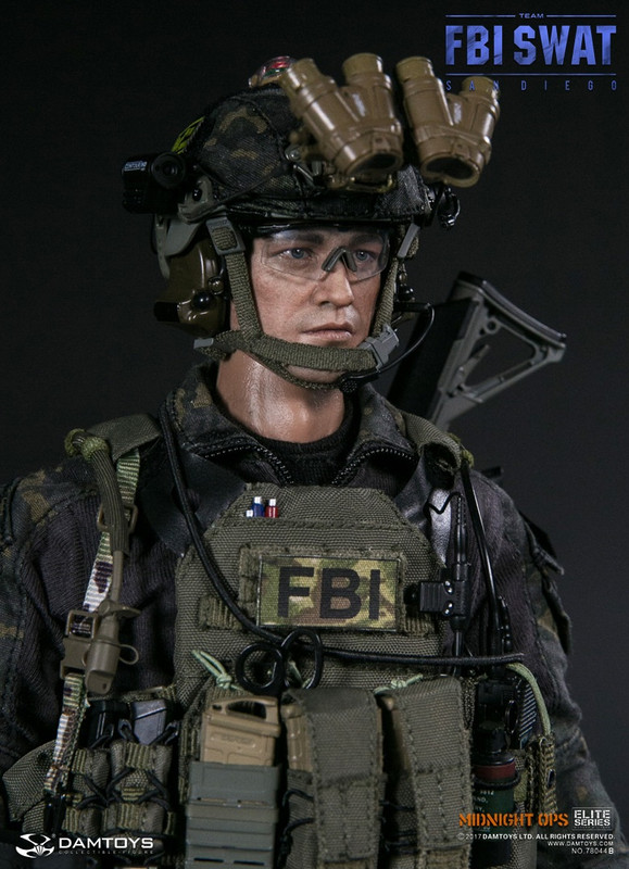 Dam Toys FBI SWAT Team San Diego Midnight Ops Team B Sixth Scale Figure