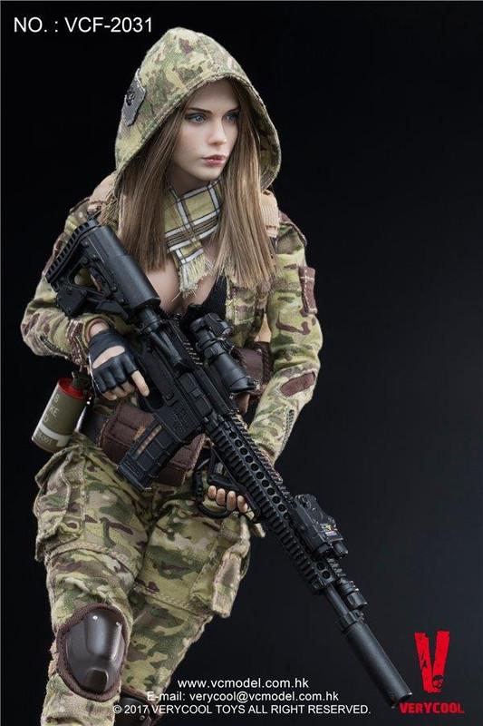 Very Cool MC Camouflage Women Soldier Villa