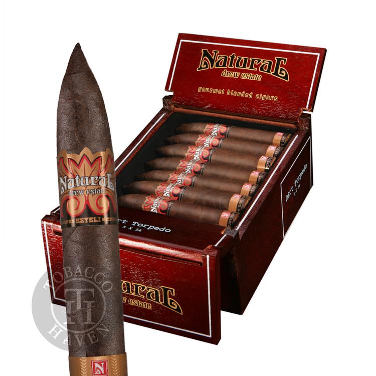 Drew Estate - Natural - Dirt Torpedo Cigars, 5x54 (24 Count)